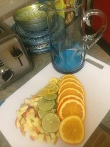 Orange, apple, lime, lemon
